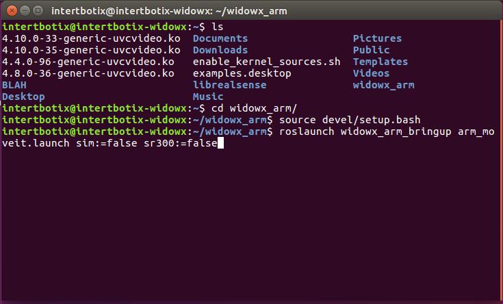 Setup With ROS — WidowX 0 0 1 documentation